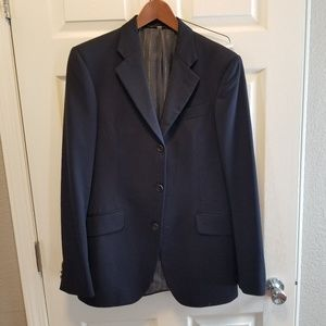 Burberry Solid Navy Suit 36L